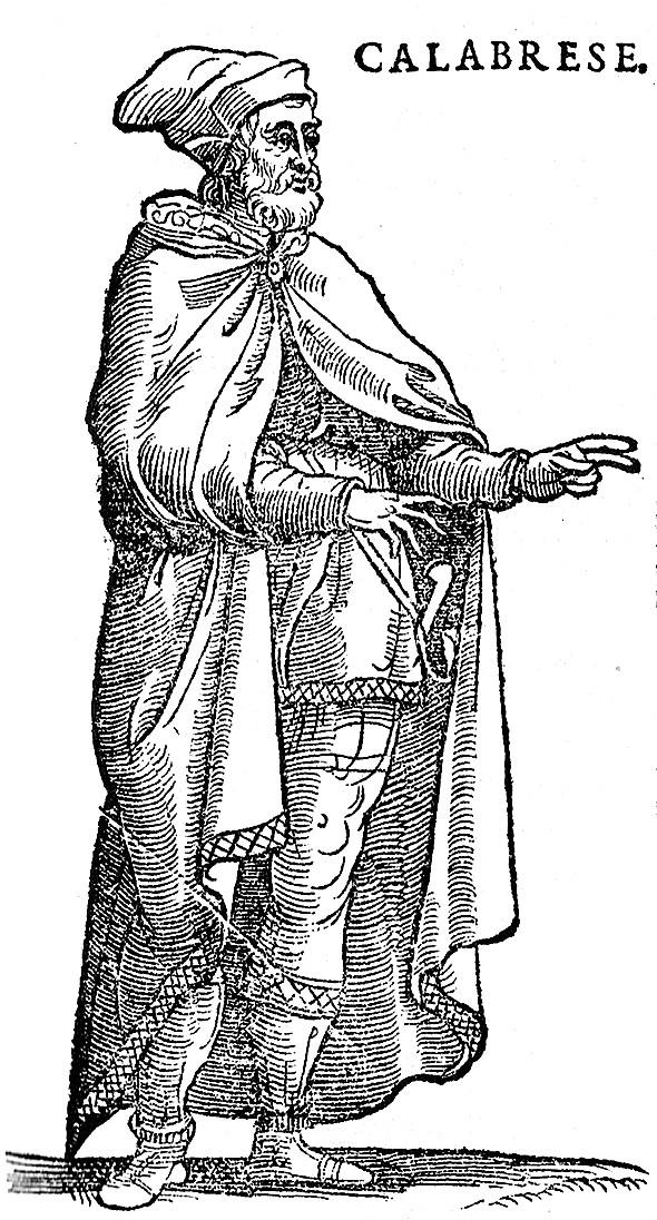 Vecellio - Clothing of Calabrian Man