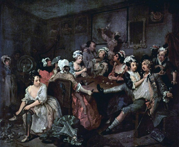 A Rake's Progress 1733 | William Hogarth | http://www.soane.org/collections_legacy/the_soane_hogarths/rakes_progress/