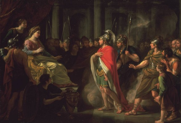The Meeting of Dido and Aeneas exhibited 1766 Sir Nathaniel Dance-Holland 1735-1811 Purchased with assistance from the Art Fund 1993 http://www.tate.org.uk/art/work/T06736